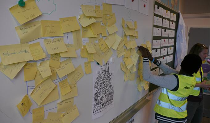 Co -creatie sessie in lager onderwijs door hogeschoolstudenten