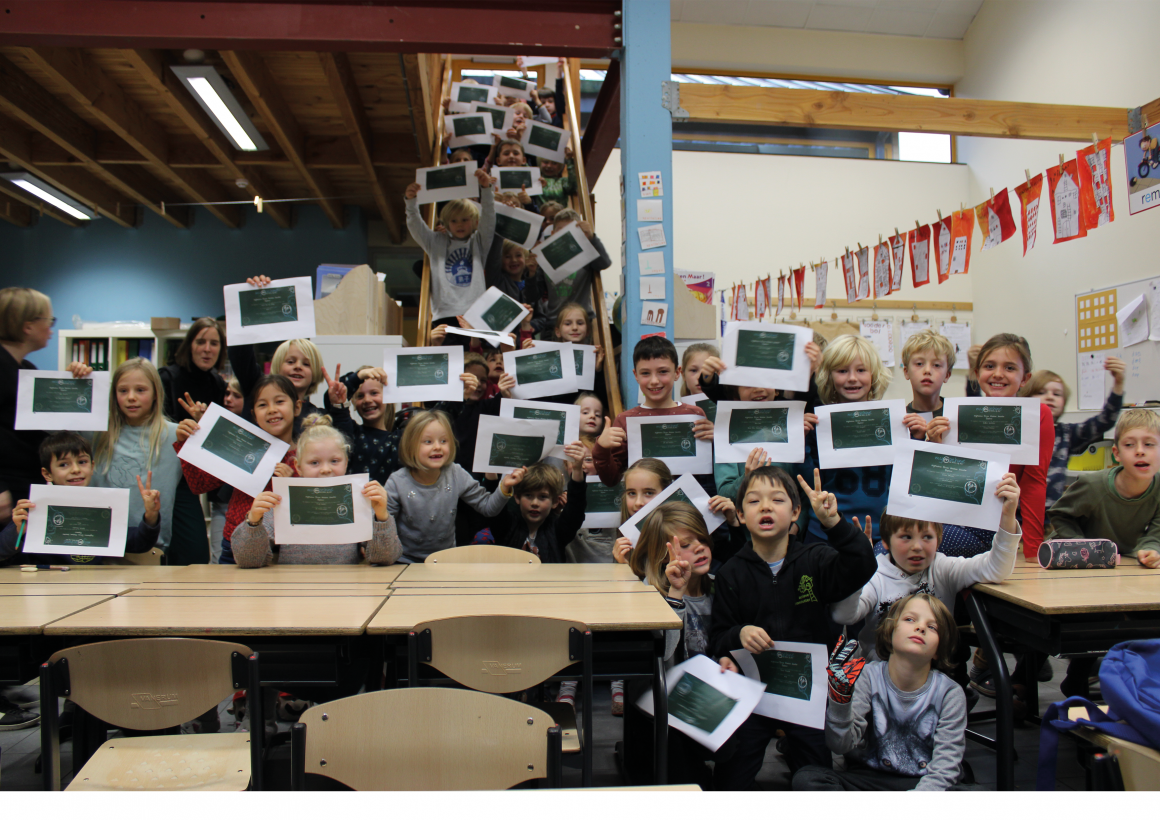 Uitreiking diploma's lagere school