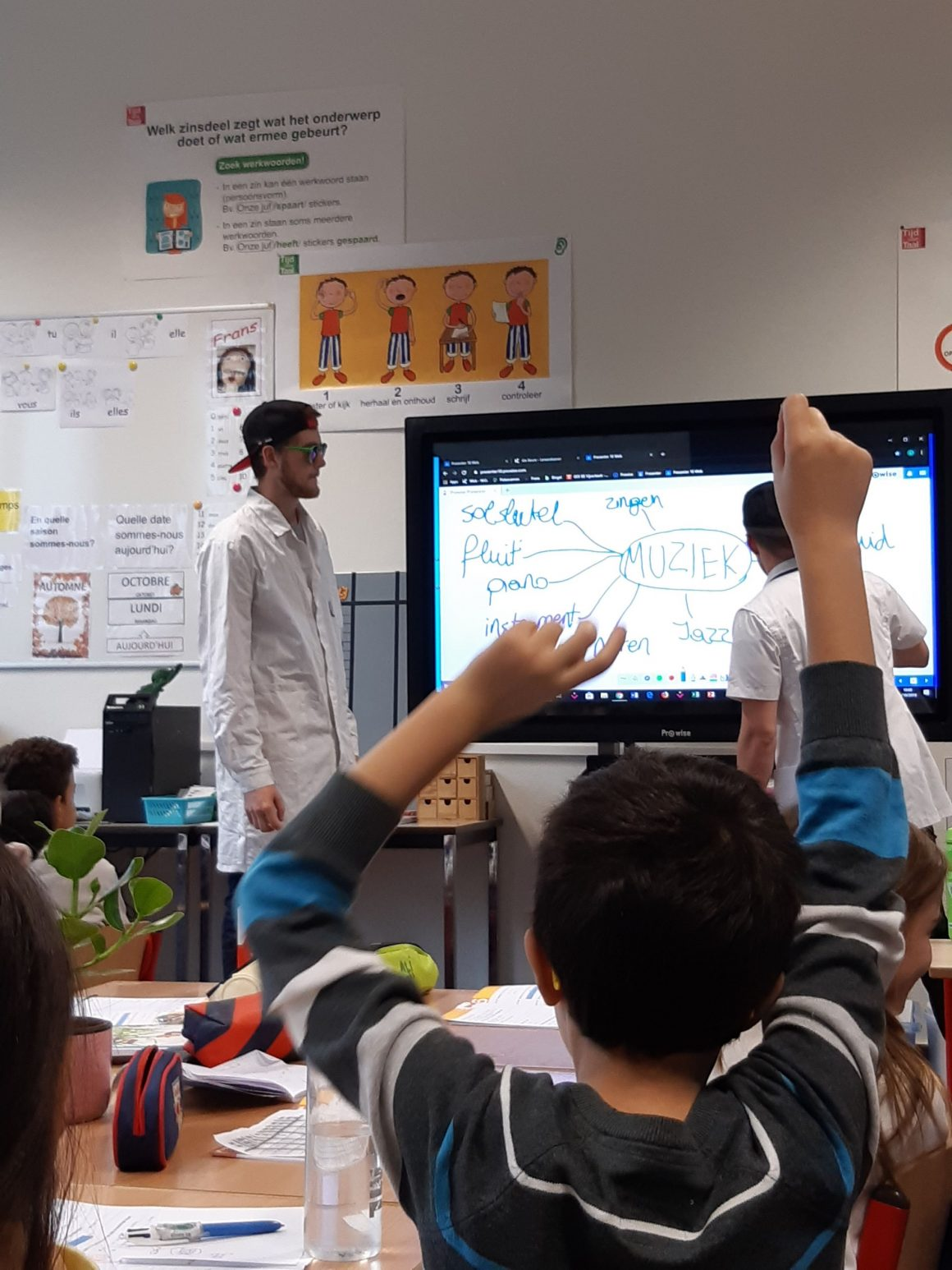 Geweldige medewerking van de klas
