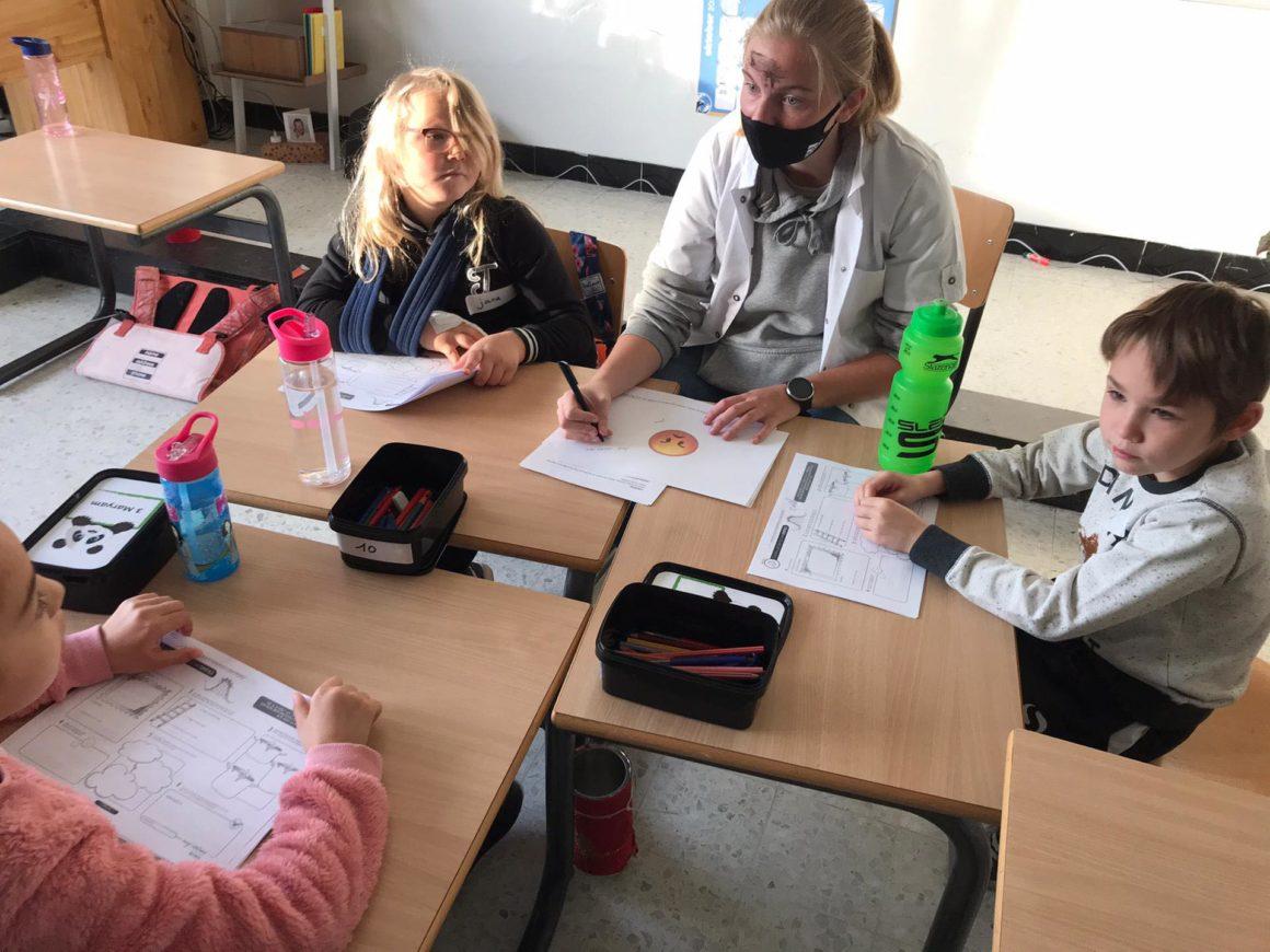 Creativiteitsessie in de lagere school