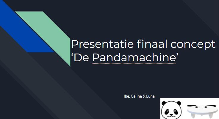 Voorbereiding presentatie finaal concept