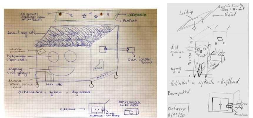 Presentatie finaal concept + schetsen 'de lachvriend'