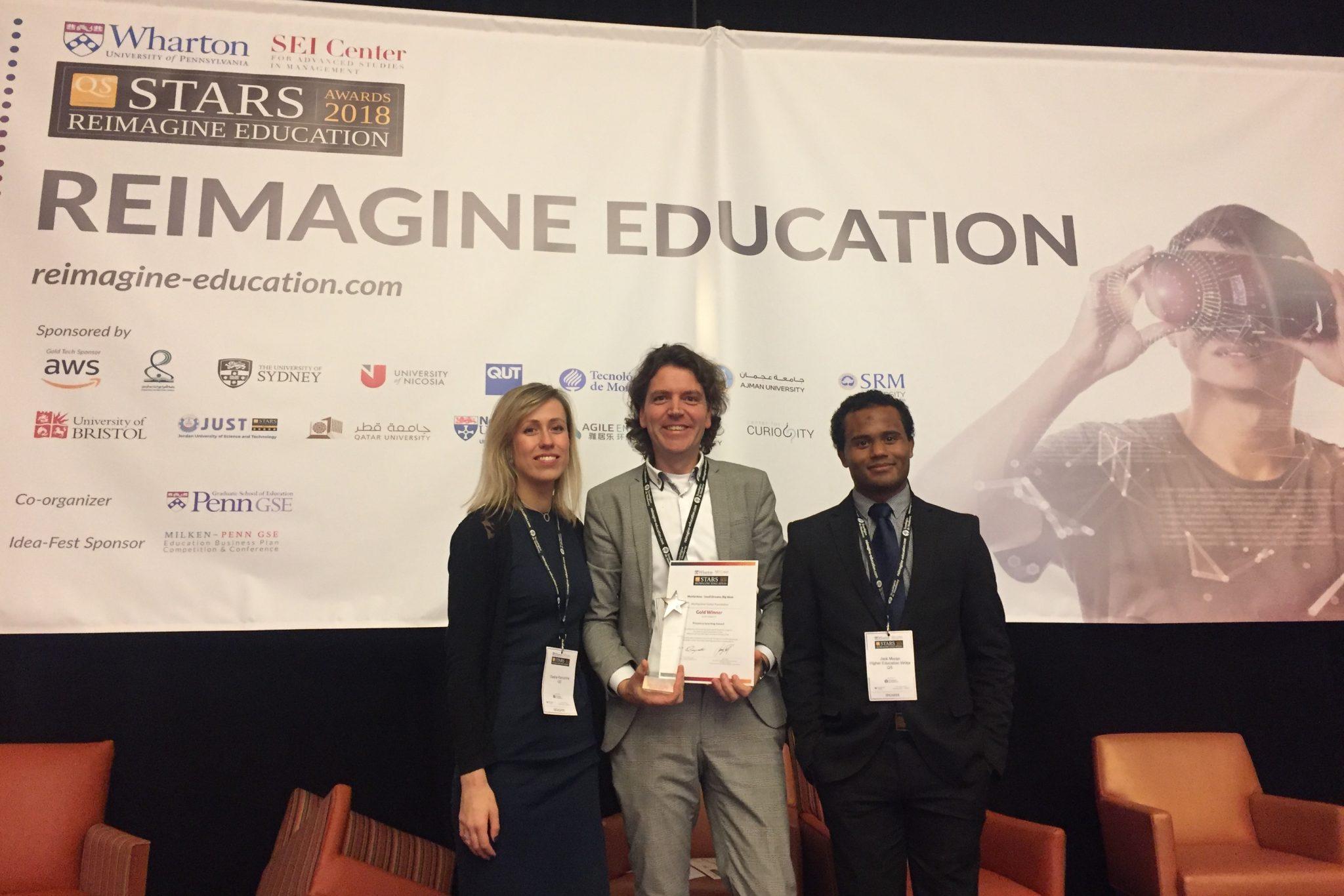 MyMachine wint Reimagine Education Presence Learning: Gold Winner 2018 award in Philadelphia