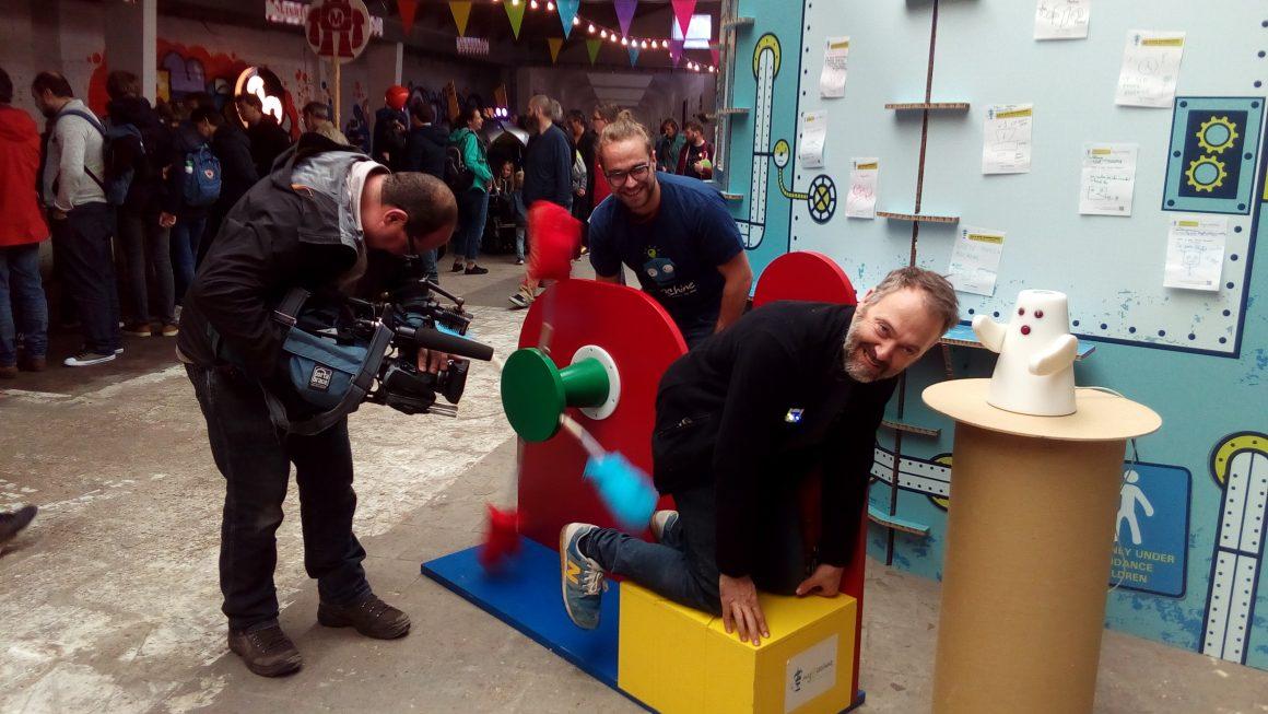 Dit was MyMachine op Maker Faire Gent.