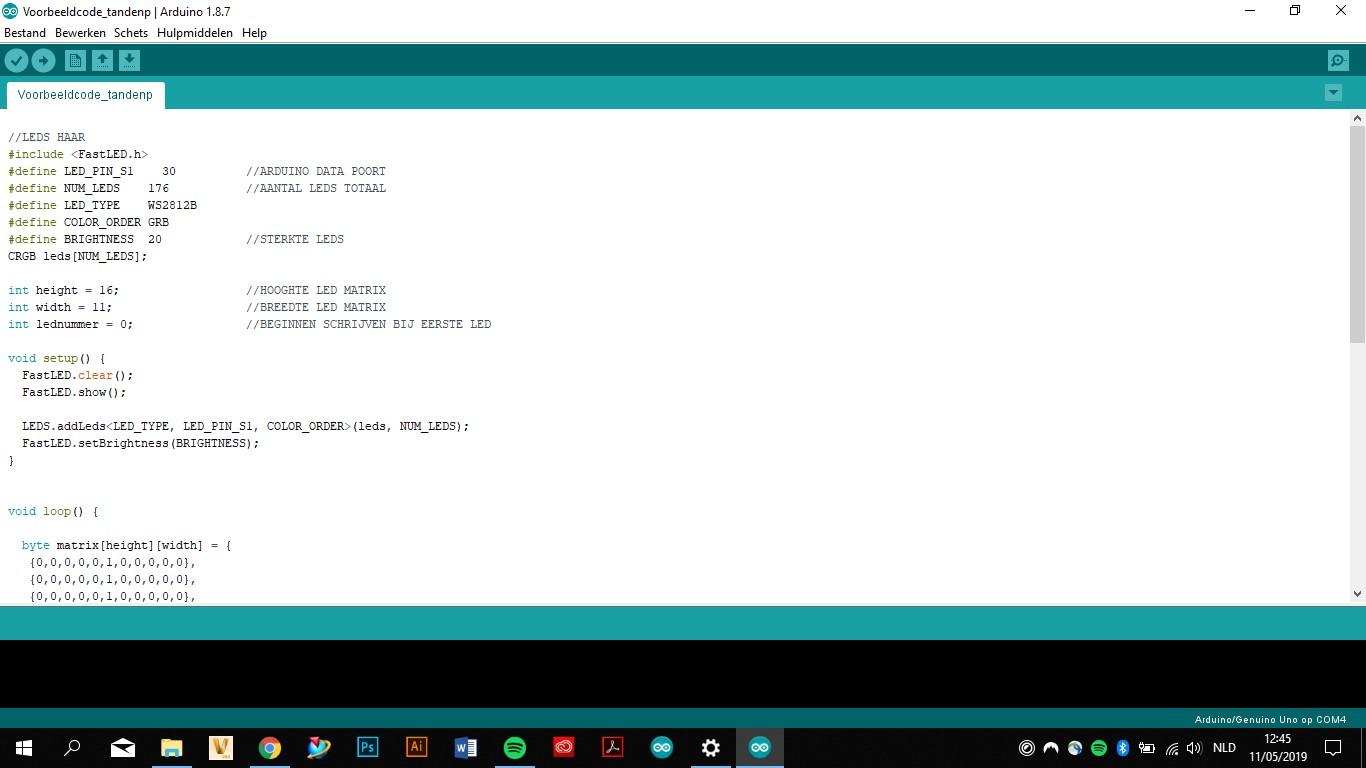 Arduino code schrijven