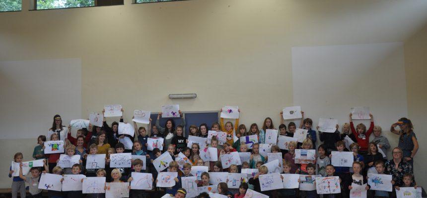 Creativiteits sessie in lager onderwijs