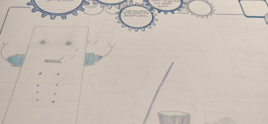 De basis van onze droommachine! Originele tekening