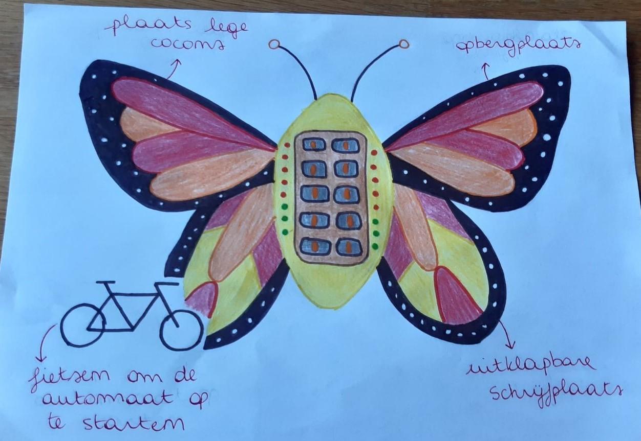 uitgewerkte vlinder