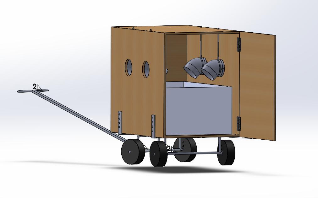 Nieuwe tekening van het prototype