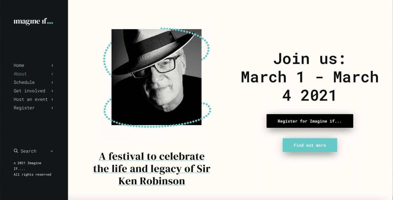 Imagine If…event als eerbetoon aan Sir Ken Robinson