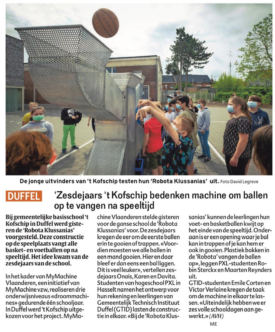 MyMachine 2020-2021 presenteert 'De Robota Klussanias'